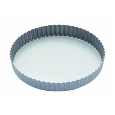 """23cm Non-stick Round Flan Quiche Tin With Loose Base - (9"""") Fluted Pie Baking"""
