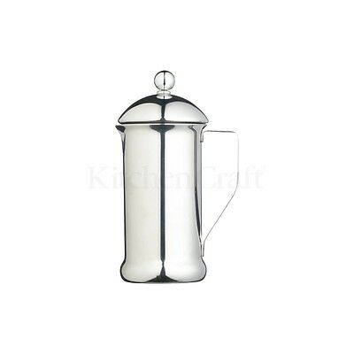 350ml Le'xpress Single Walled Stainless Steel Three Cup Cafetiere - 3 Coffee