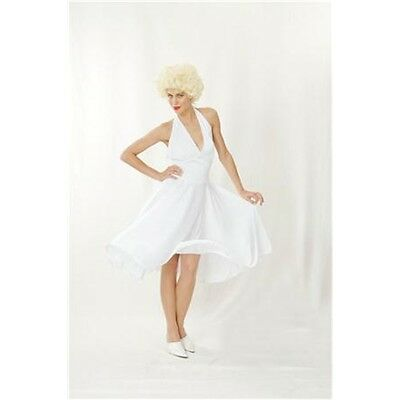 White Ladies Hollywood Dress - Marilyn 50's Hollwood Fancy Costume - One Size