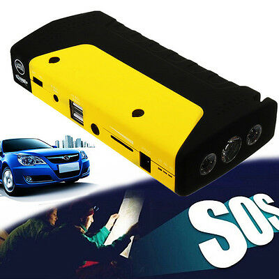 Portable Car Jump Start Pack Booster USB Charger Adapter Power Battery 50800mAh