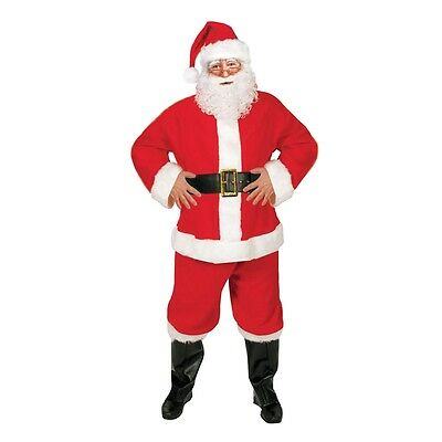 Adults 5 Piece Santa Suit Costume - Adult Father Christmas Christmas Fancy