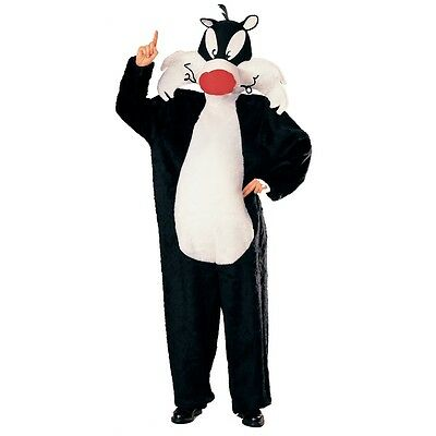 Adult's Sylvester Costume - Adults Official The Cat Fancy Dress Medium