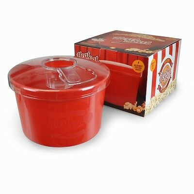 Heat N Eat Microwave Popcorn Maker - And Film Movie Popocor Cooker Tub Pot Cup