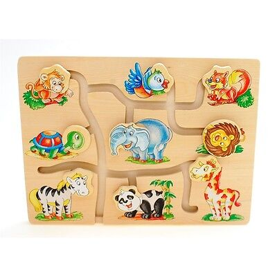 Wooden Match The Head Jungle Animals Puzzle