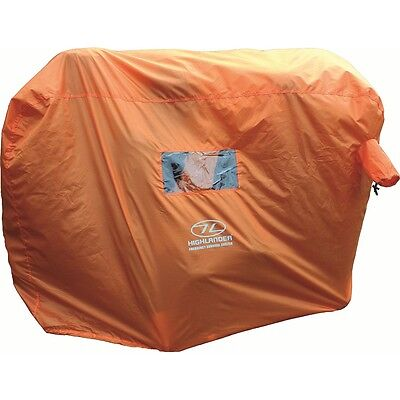 4-5 Person Emergency Survival Shelter - Highlander Hi Vis Waterproof Camping