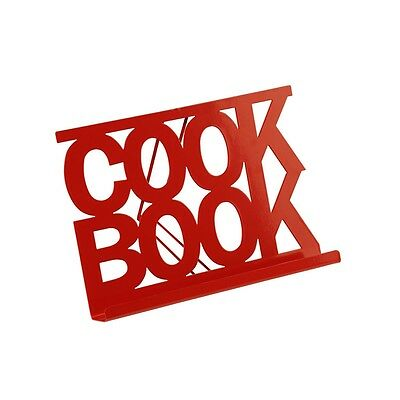 29 x 22 x 19cm Red Enamel Cook Book Stand - Premier Housewares 29 22 Kitchen