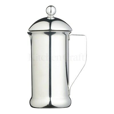 1l Le'xpress Single Walled Stainless Steel Eight Cup Cafetiere - 8 1 Litre