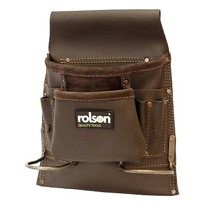 Oil Tan Rolson Single Pouch 8 Pocket Tool Belt - 68880 Holding Travel Working
