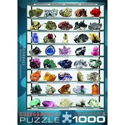 1000 Piece Minerals Puzzle - Of The World Eurographics Jigsaw Jigsaws