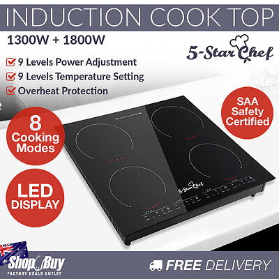 Induction Cooktop Electric Stove 4 Burner Ceramic Hotplate Cook Top Cooker