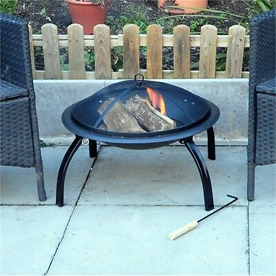 Outdoor Garden Patio Firepit Heater - Backyard Stove Fire Pit Steel Barbecue
