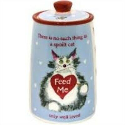 Cupboard Love Ceramic Cat Treat Jar - ' ' James & Steel Pet Food Storage Pet