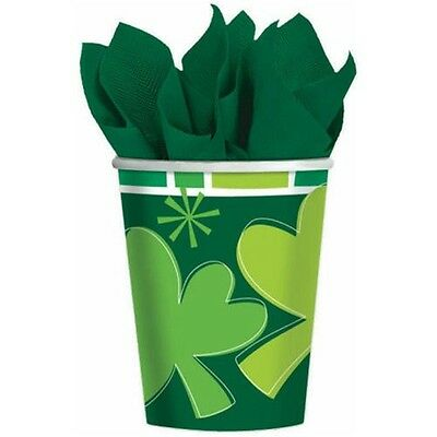 Amscan International 266ml Spring Clover Paper Cups 8ct
