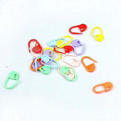 100PCS- Knitting Crochet Locking Stitch Needle Clip Markers Holder Tool