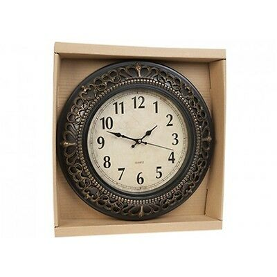 30.5cm Crown Scroll Quartz Wall Clock - Traditional Home Décor Accessory