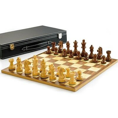 """Wooden Chess Set With 3"""" King - 3"""