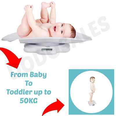 NEW Digital Baby Scale W/ Tray Infant Weight Toddler Floor Scale Puppy Vet Nurse