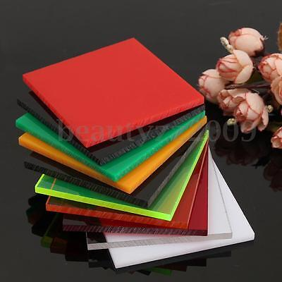 New 5 Size 10 Color Acrylic Perspex Sheet Cut to Size Panel Plastic Satin Gloss