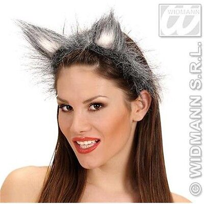 Hairy Fancy Dress Wolf Ears - Deluxe Fox On Headband Costume