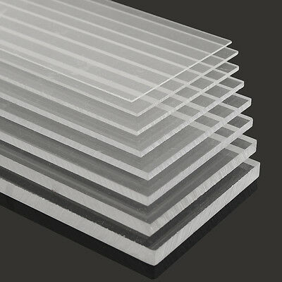 New 1-10mm 100x500mm Acrylic Perspex Sheet Cut to Size Panel Plastic Satin Gloss