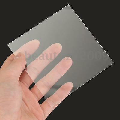 New 1-10mm 100x100mm Acrylic Perspex Sheet Cut to Size Panel Plastic Satin Gloss