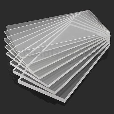 New 1-10mm 100x200mm Acrylic Perspex Sheet Cut to Size Panel Plastic Satin Gloss