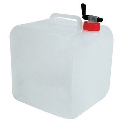 15 Litre Portable Water Carrier - Folding Collapsible Container Jerry Can With