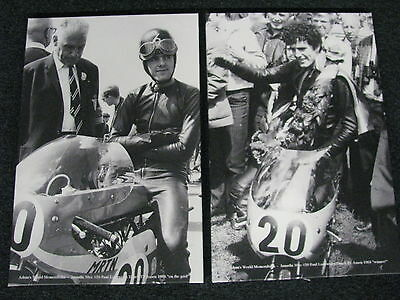 2x Canvas photo Jamathi 50cc Dutch TT Assen 1968 #20 Paul Lodewijkx (NED)