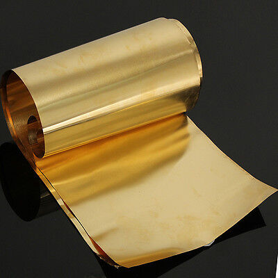 Brass Metal Thin Sheet Belt Roll Foil 0.1 x 200 x 1000mm Handicraft Metalworking