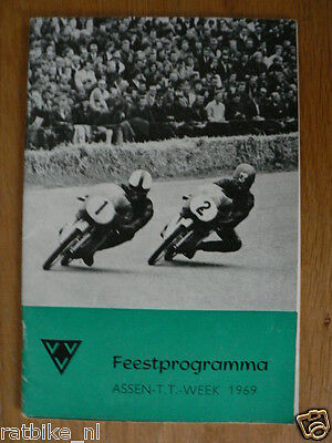1969 Evenementen Programma Dutch Tt Assen 1969 Grand Prix,Moto Gp
