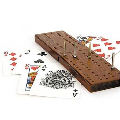 Cribbage Family Board Game - Wooden With Cards & Pegs New