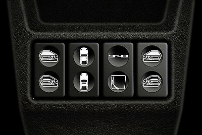 928 window switch decals / overlays suitable for worn Porsche 928 switches