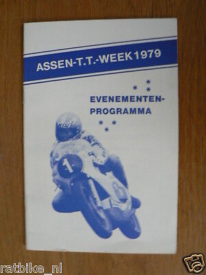 1979 Evenementen Programma Dutch Tt Assen 1979 Grand Prix,Moto Gp