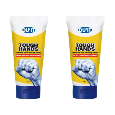 2 x tubes DU'IT Tough Hands Intensive Hand Cream (150g x 2)