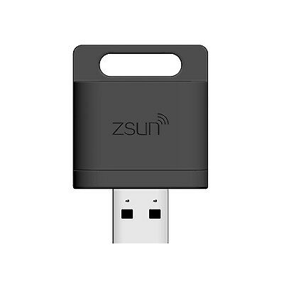 Zsun Wi-Fi USB 2.0 TF Card Reader Flash Drive for PC Tablet Cell Phone - Black