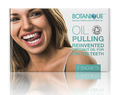 ORGANIC Teeth Whitening Oil Pulling Coconut-Mint BOTANIQUE