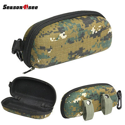 Tactical Zipper Sunglasses Box Case Shell Hard Eye Glasses Protector Box Pouch