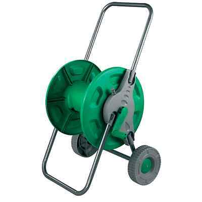 Hose Pipe Reel Holder Trolley Cart Garden Water Portable Free Standing Stand