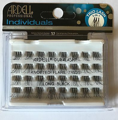 Ardell Professional Duralash Knotted Flare Trios Long Individual Lashes Black