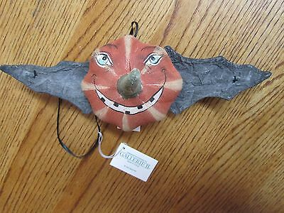 Halloween Pumpkin Bat Ornament-Joe Spencer-New W/tag!  #06