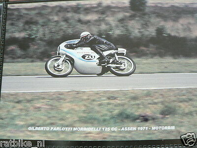 S0106-Gilberto Parlotti Morbidelli 125 Cc Assen 1971 No 20 Photo Color Moto Gp