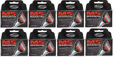 Personna M5 Magnum Razor Refill Blades with Trimmer, 4 Cartridges (8 Pack)