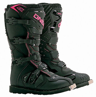 O'Neal Rider Youth Girls Black/Pink MX Offroad Motocross Motorcycle Riding Boot