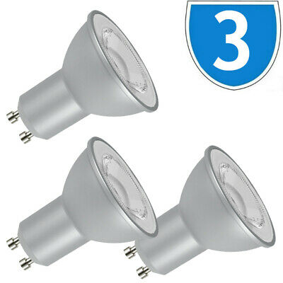 3x Kanlux 7W 600 Lumen GU10 LED Light Bulb Downlight Lamp 6500K Daylight White