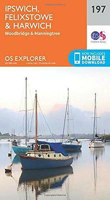 OS Explorer Map (197) Ipswich, Felixstowe and Harwich, Ordnance Survey | Map Boo