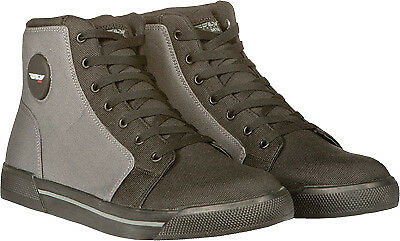 Fly Street M16 Men's Grey/Black Casual Look Textile Motorcycle Riding Shoe