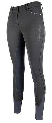 HKM Copper Kiss Full Seat Breeches in Anthracite