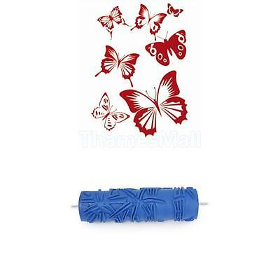 17.8cm DIY Wall Decoration Bamboo Pattern Painting Roller + Butterfly Stencil