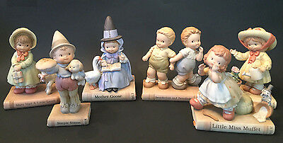 Memories Of Yesterday Lot 6 Figurines~Once Upon A Fairy Tale~Enesco~Nursery Book