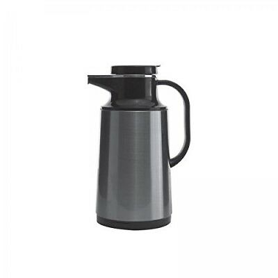 Service Ideas HPS101 Glass-Lined Carafe, Vacuum Insulated, 1 Liter (33.8 oz.)...